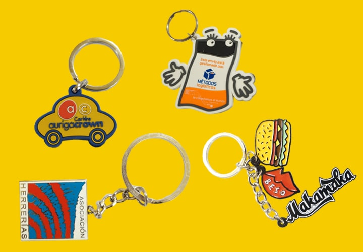 4 different keychains